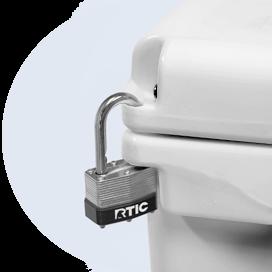 RTIC Cooler Locking System