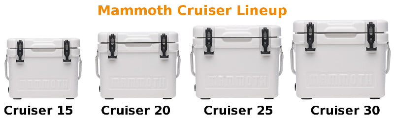Mammoth Cruiser Coolers - Sizes