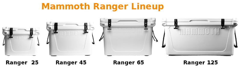 Mammoth Ranger Coolers Lineup - Sizes