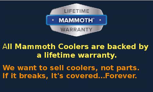 Mammoth cooler - Warranty