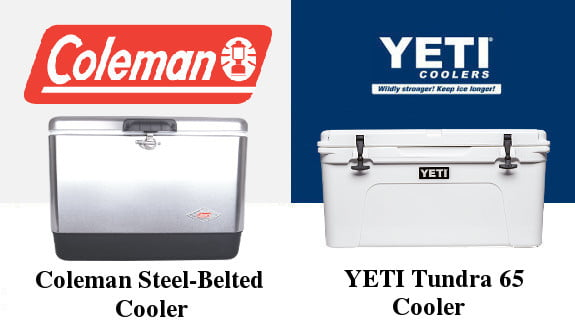 Coleman Steel-Belted Cooler Vs YETI Tundra 65