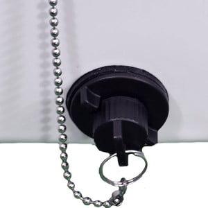 Hose compatible dual-size drain valve