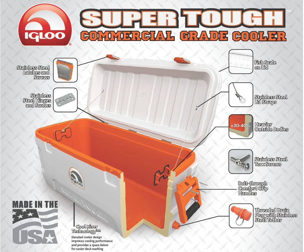 Igloo Super Tough STX Coolers - Features