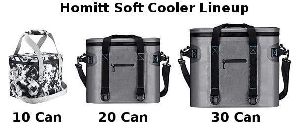 Homitt Soft Cooler Lineup
