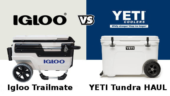 Igloo Trailmate cooler vs YETI Tundra Haul