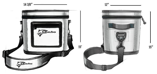 Coho RealCold Soft Cooler - Dimensions